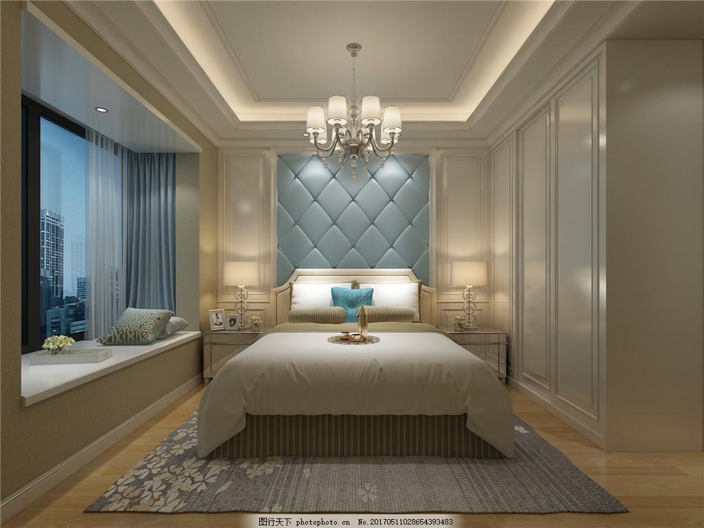 欧式时尚卧室背景墙设计图 家居 家居生活 室内设计 装修 家具