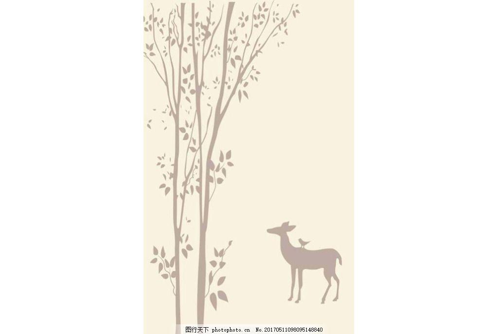 手绘鹿壁纸