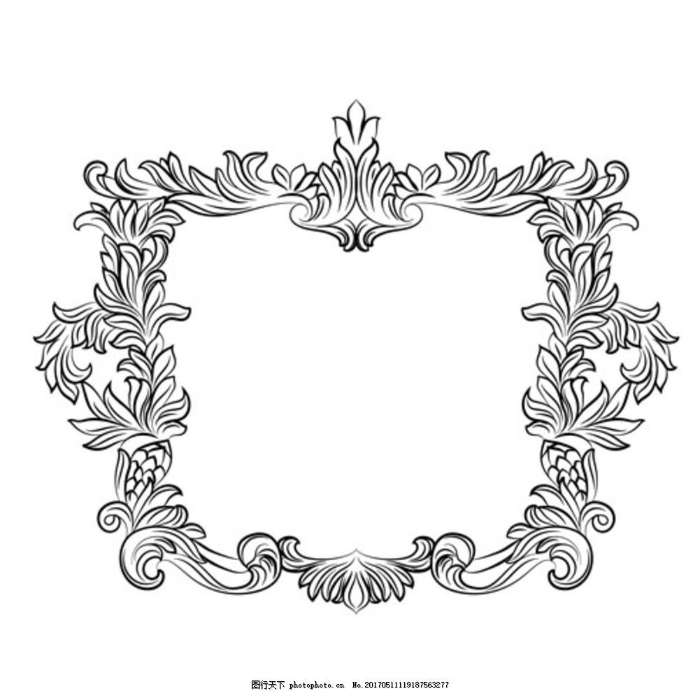 豪华欧式雕花装饰镜框 中式镂空 欧式镂空 隔断雕花 中式隔断 欧式图片