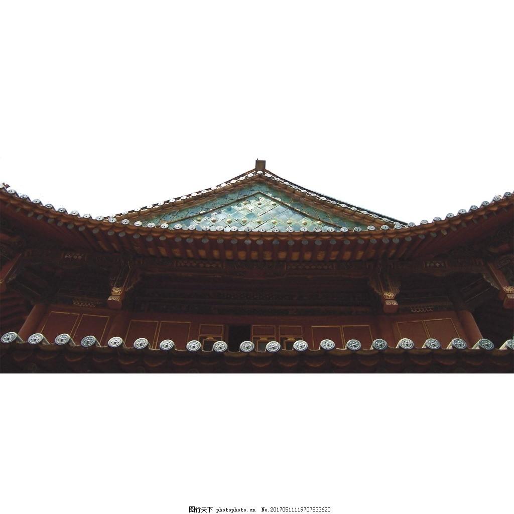 手绘古典建筑元素 房屋 屋檐