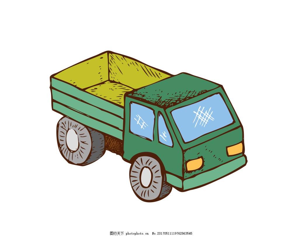 矢量卡通货车eps 手绘卡通玩具模板下载 手绘卡通玩具 生活百科 eps