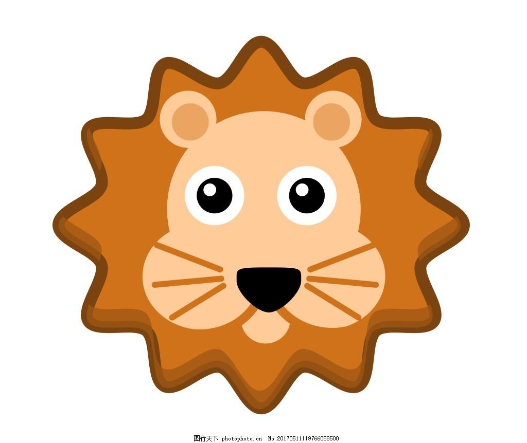 矢量狮子头eps 卡通动物 卡通动物矢量素材模板下载 矢量素材图片下载图片