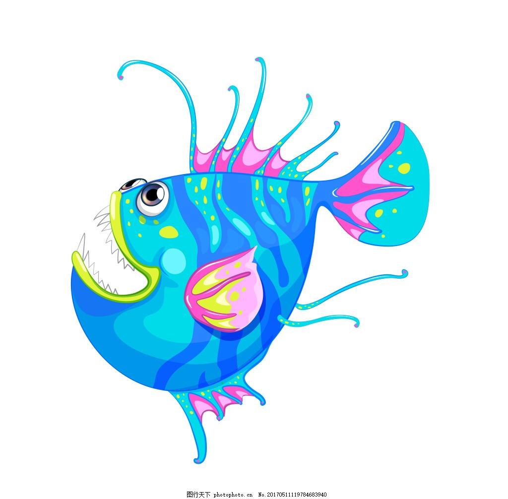 海底动物卡通图片_100海洋动物简笔画大全