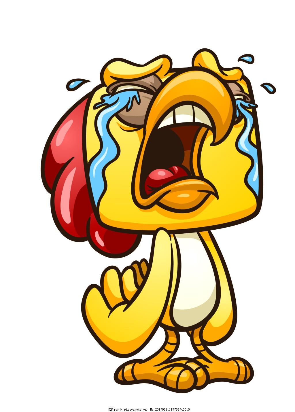 卡通公鸡表情图片下载 卡通公鸡表情 卡通公鸡 鸡 可爱鸡 矢量鸡 eps