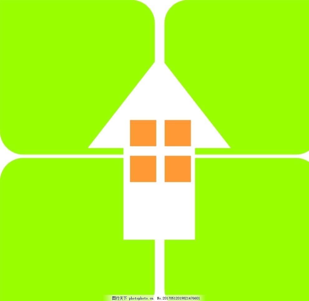 房地产标志 正方体 变形 颜色 复制 对齐 设计 标志图标 公共标识标志图片