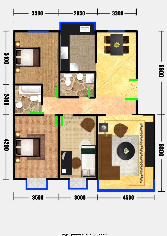 手绘家装平面图设计 室内户型图 室内设计 手绘平面图 家居 室内布置
