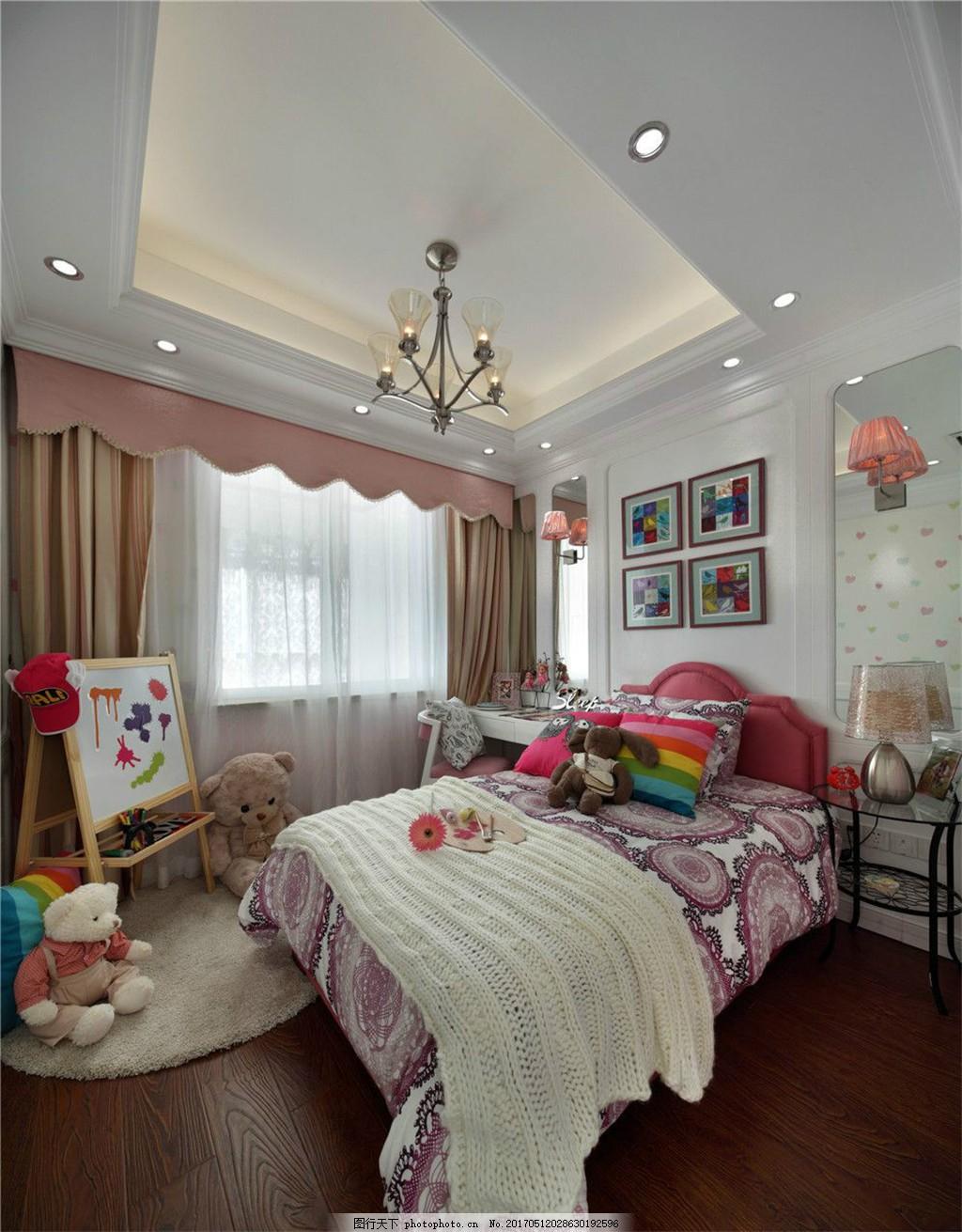 小女孩卧室装修效果图 创意环境设计家居家居生活家具客厅时尚室内