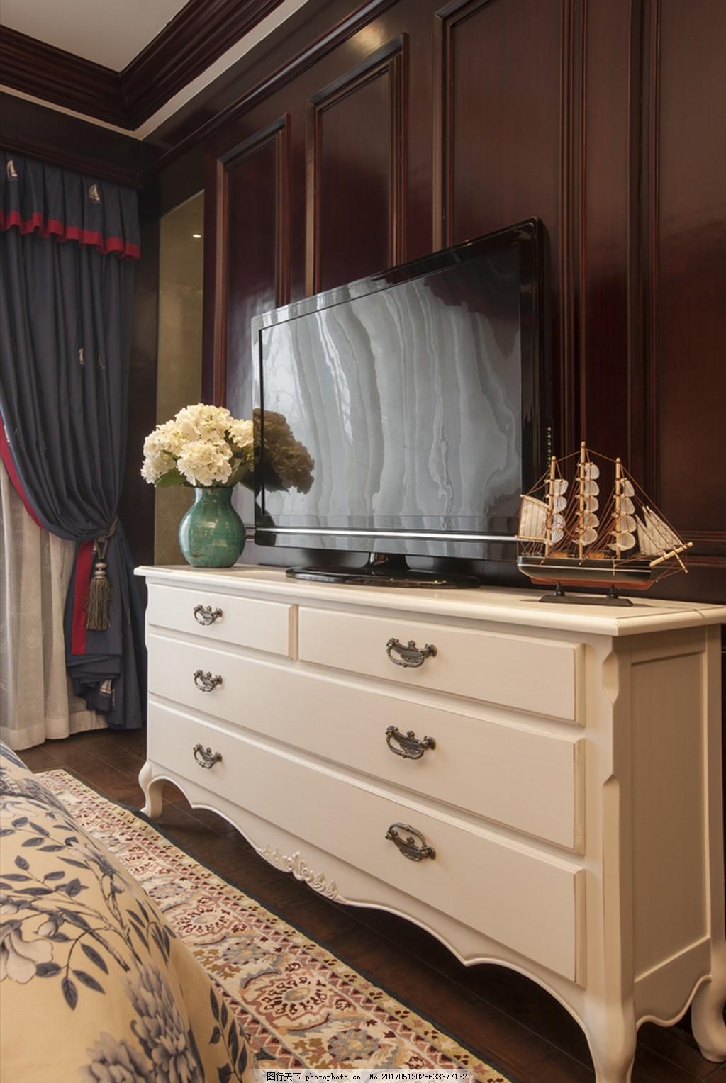 美式卧室一角装修效果图 家居 家具 家具设计 空间设计 室内设计