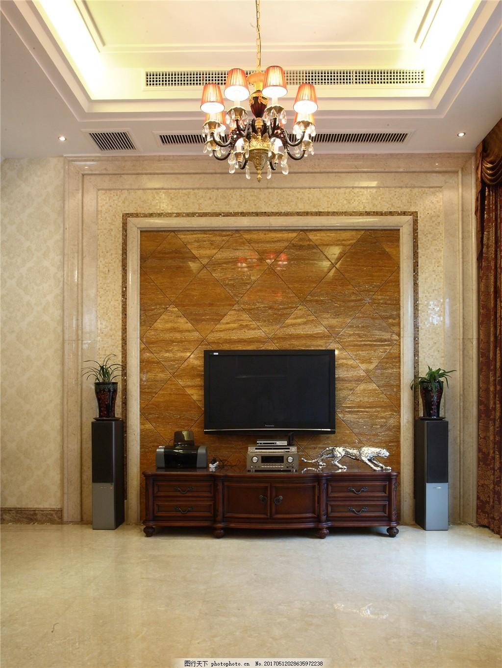 欧式客厅装修效果图 室内设计 家装效果图 时尚 室内装修 家装实景图图片