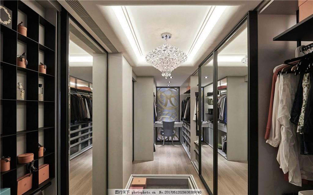 现代简约服装间装修效果图 室内设计 家装效果图 欧式装修效果图