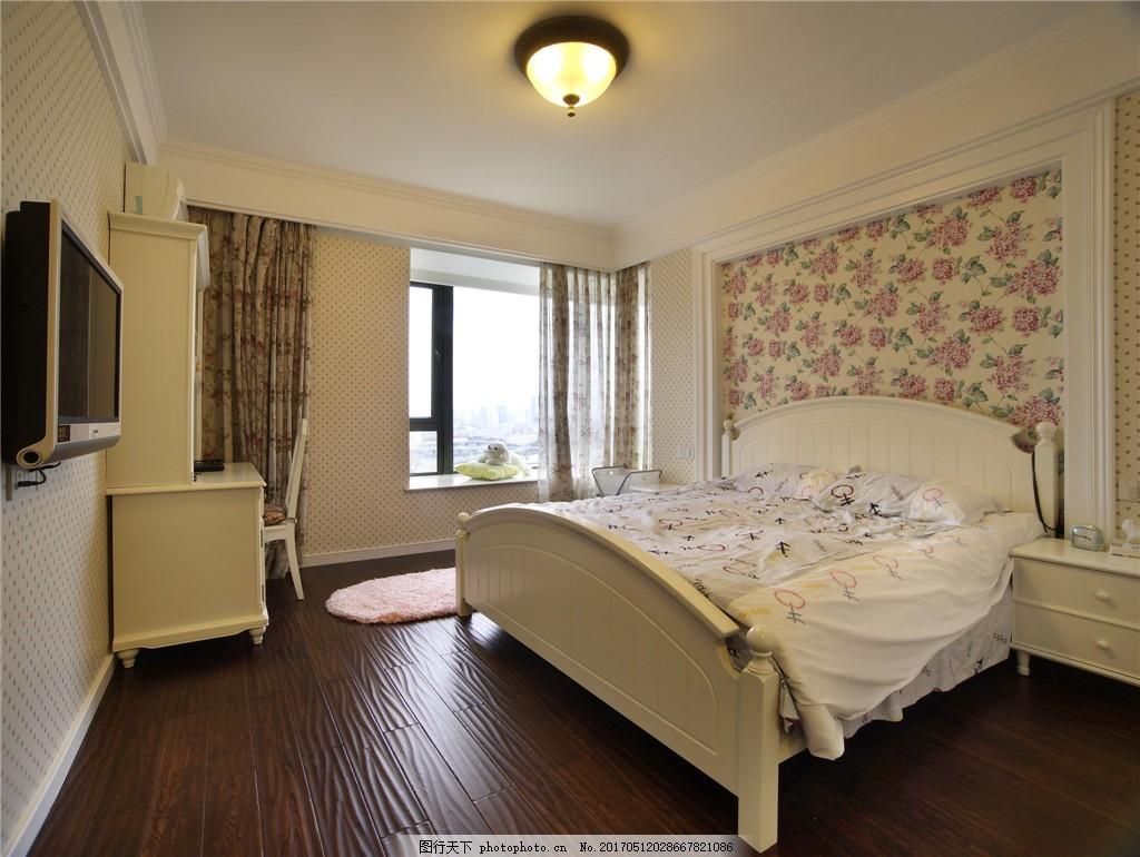 简约欧式卧室装修效果图图片
