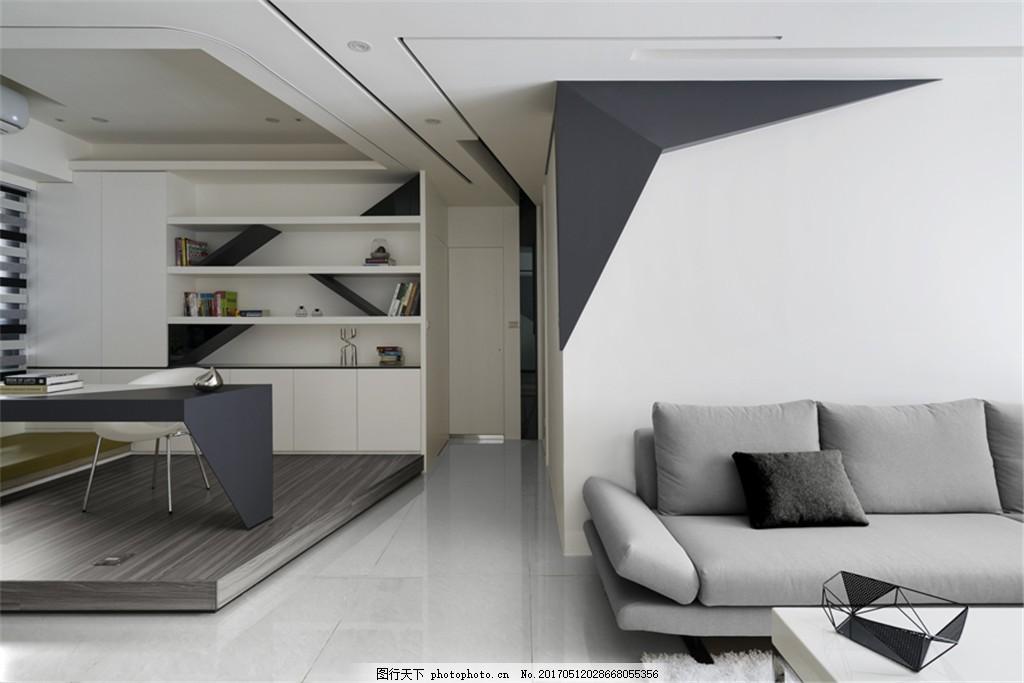 现代欧式客厅简装效果图