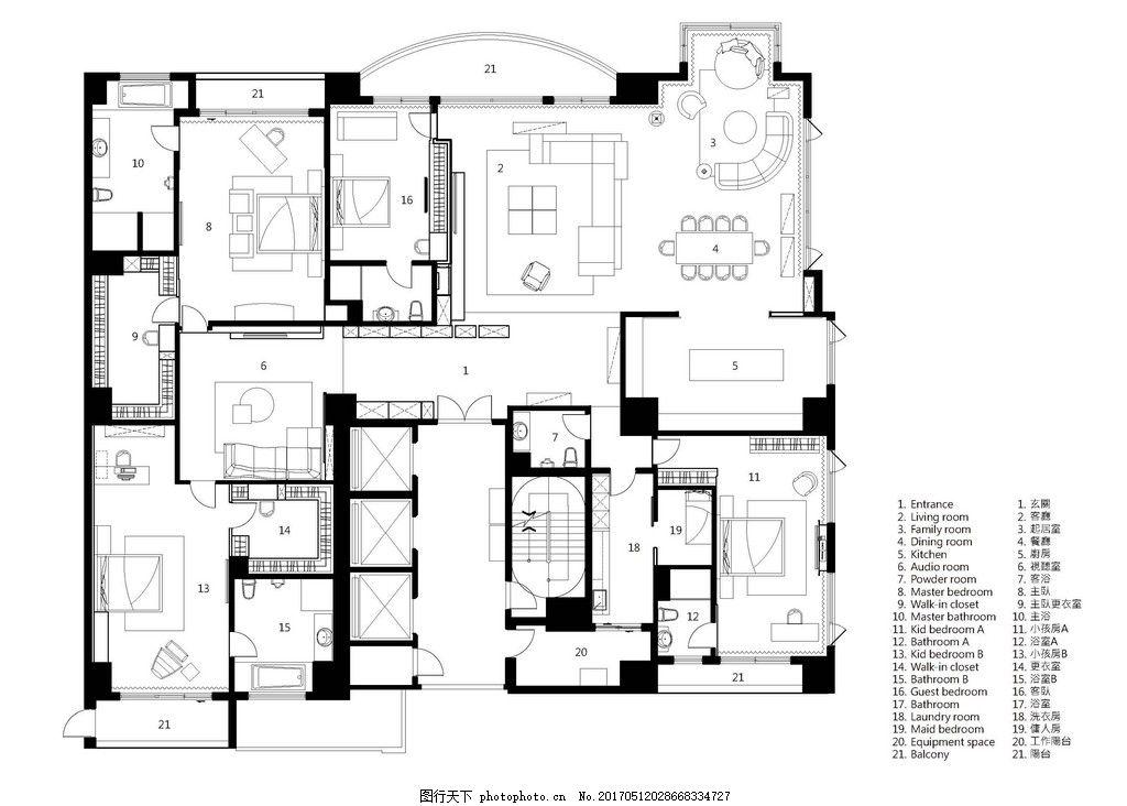 时尚室内装修设计手稿图