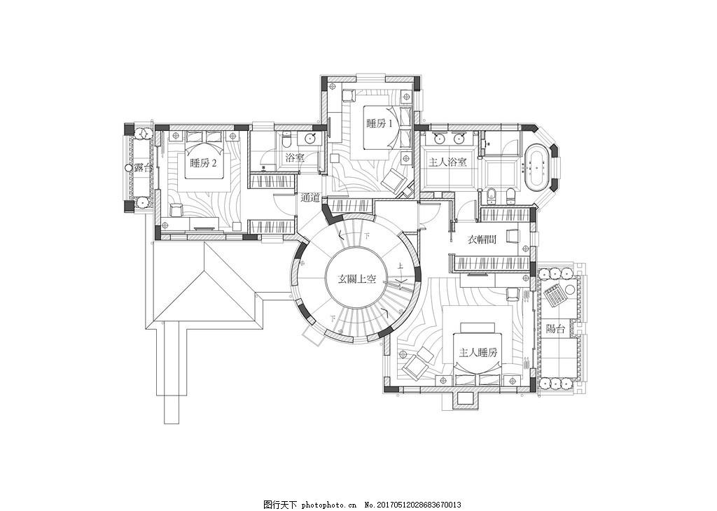 现代别墅装修平面图 室内设计 家装效果图 现代装修效果图 时尚