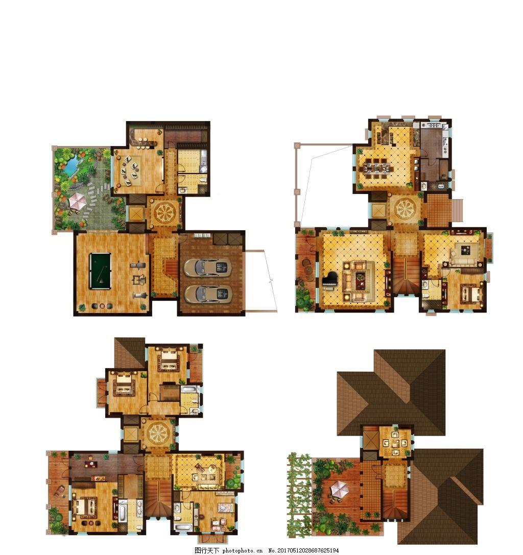 豪华户型家装平面图 室内户型图 室内设计 手绘平面图 家居 室内布置