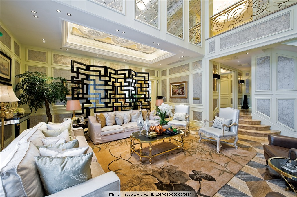 欧式客厅装修效果图 室内设计 家装效果图 时尚 室内装修 家装实景图