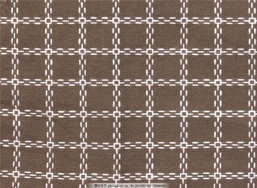 褐色格子布纹壁纸图 中式花纹背景 壁纸素材 无缝壁纸素材 欧式花纹