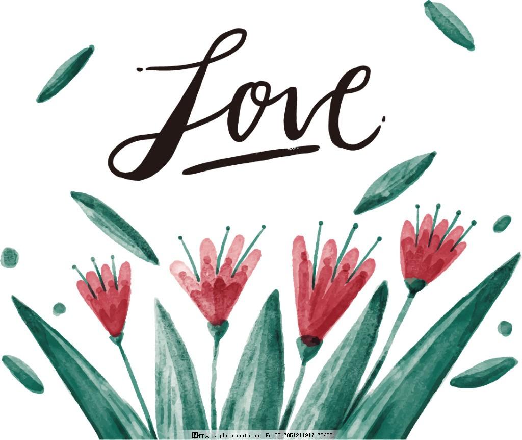 小清新手绘水彩花卉 水彩花卉 花卉背景 手绘花卉 花朵 手绘花朵 花卉