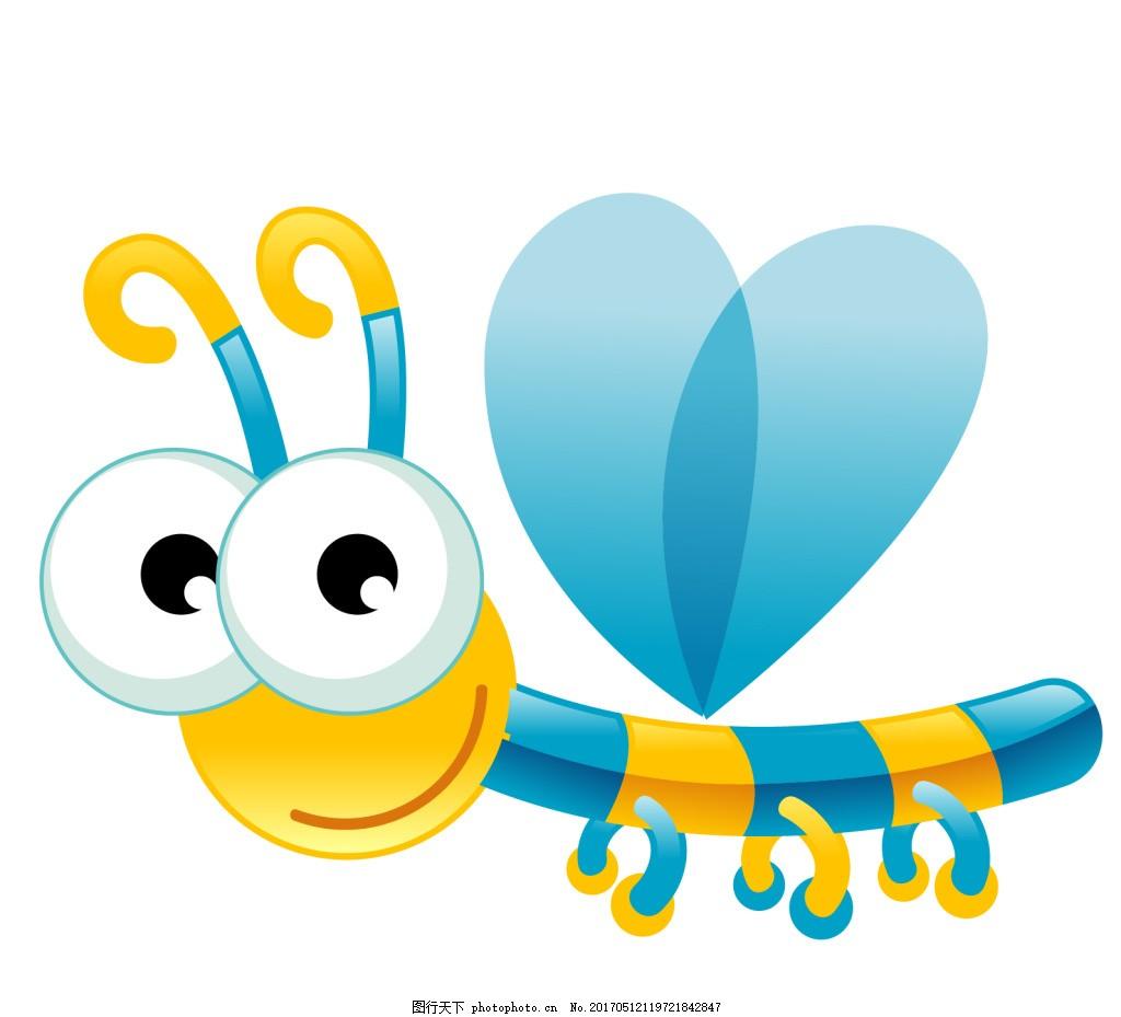 卡通可爱波动物蜻蜓eps 卡通动物 矢量动物 可爱动物 小动物卡通元素