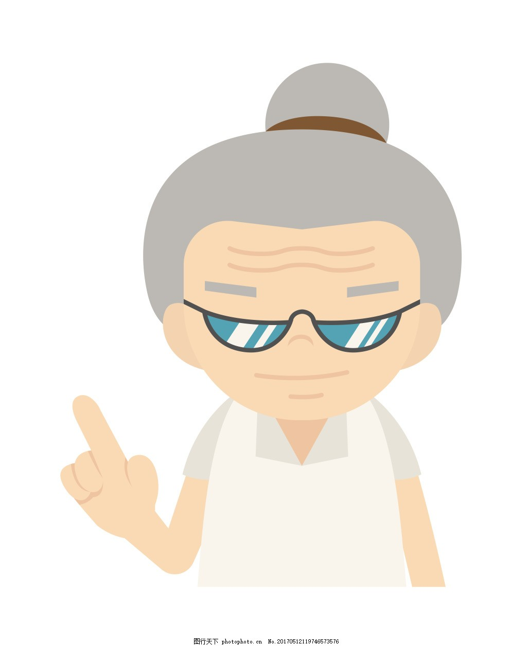 矢量糖醋老奶奶eps 卡通人物图标图片下载 工作 人员 行业 扁平图片