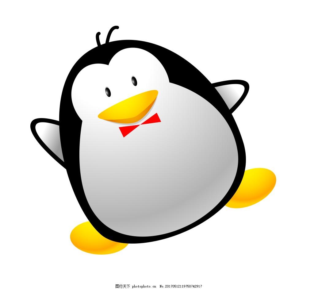矢量卡通扣扣企鹅eps 矢量动物素材模板矢量动物素材图片下载 矢量