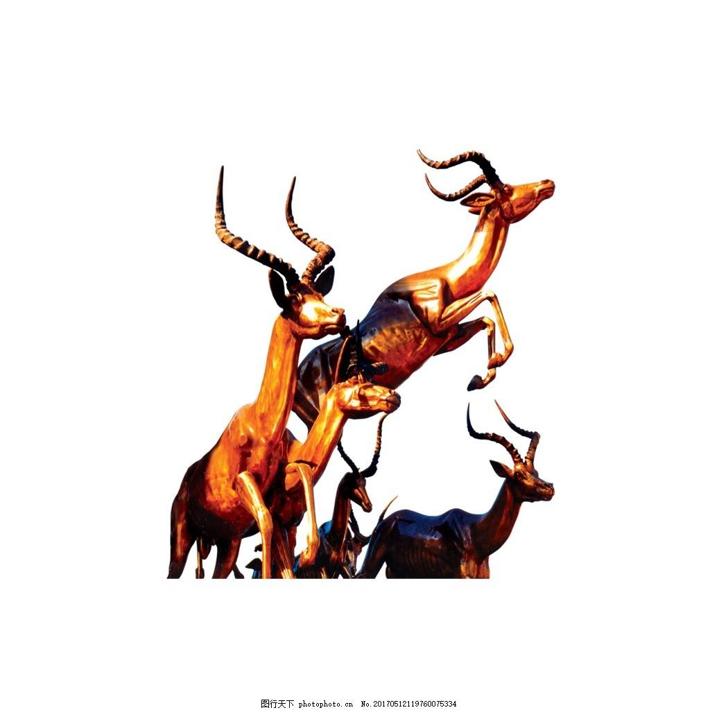 手绘动物元素 卡通 动物 梅花鹿 元素