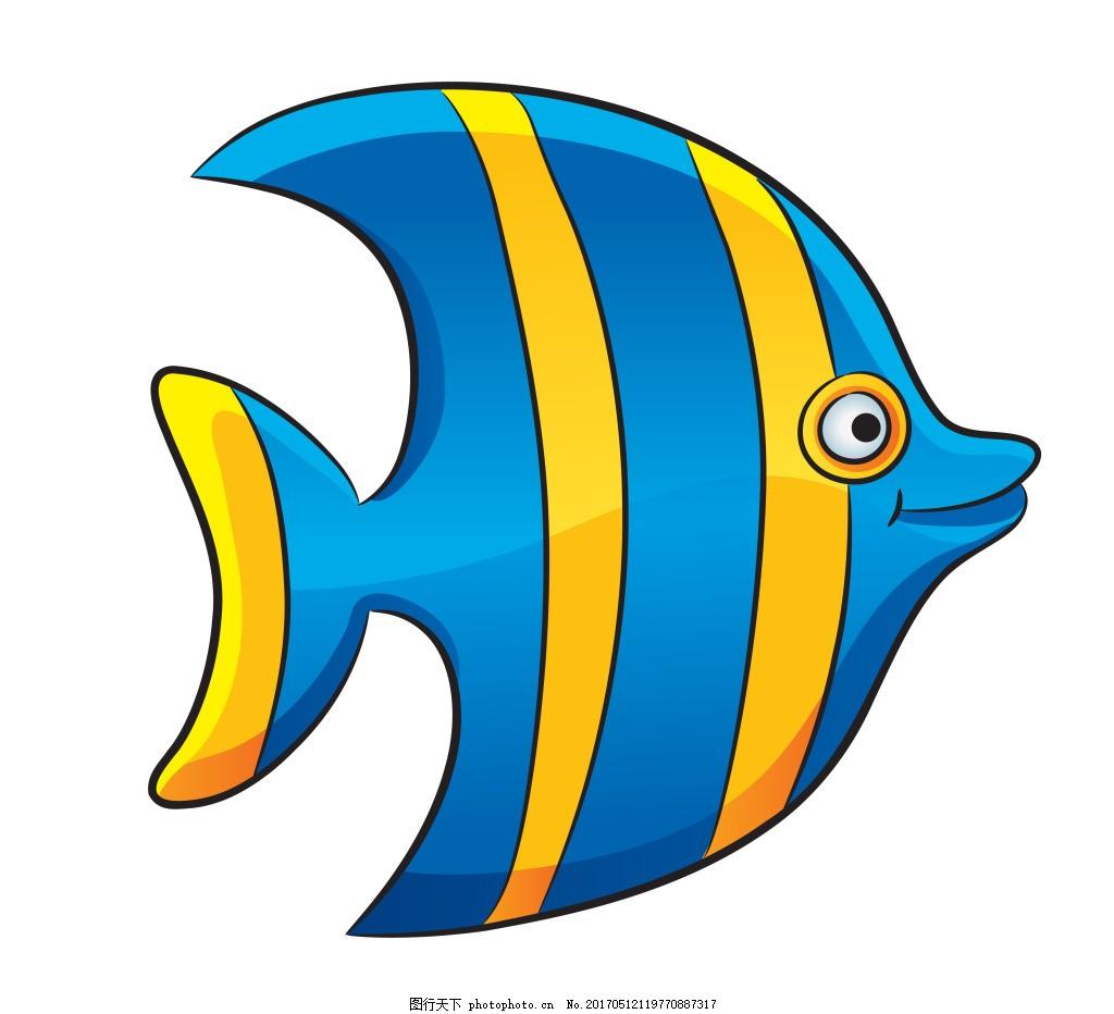 蓝色小鱼仔eps 卡通海洋生物模板下载 卡通海洋生物图片下载 矢量生物