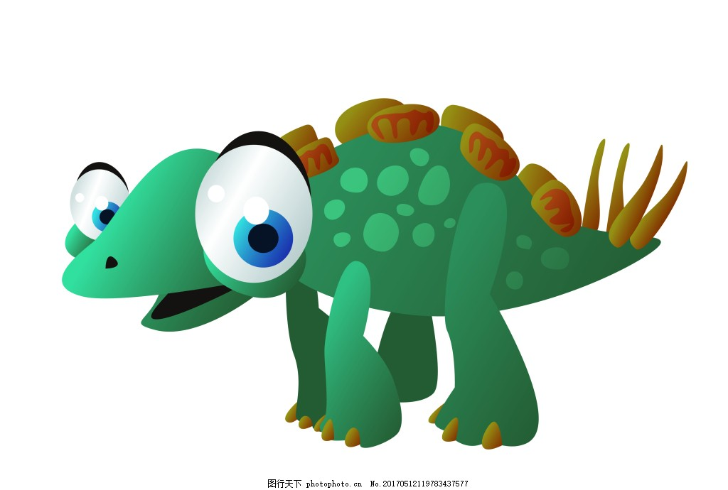 绿色矢量恐龙eps 可爱的卡通动物 矢量素材模板下载动物 矢量素材