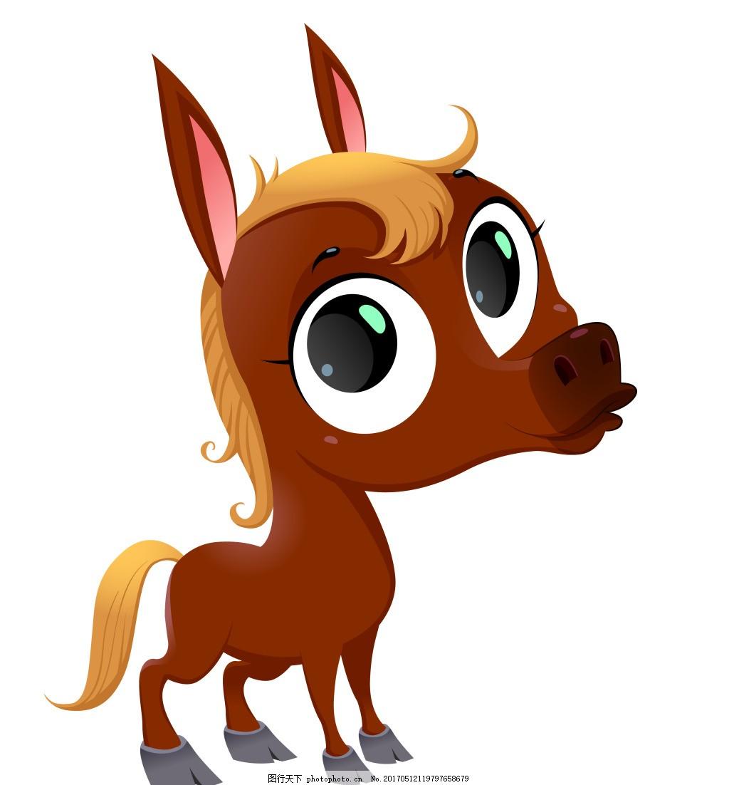 矢量小鹿eps 卡通动物矢量素材图片下载 卡通动物 矢量动物 可爱动物