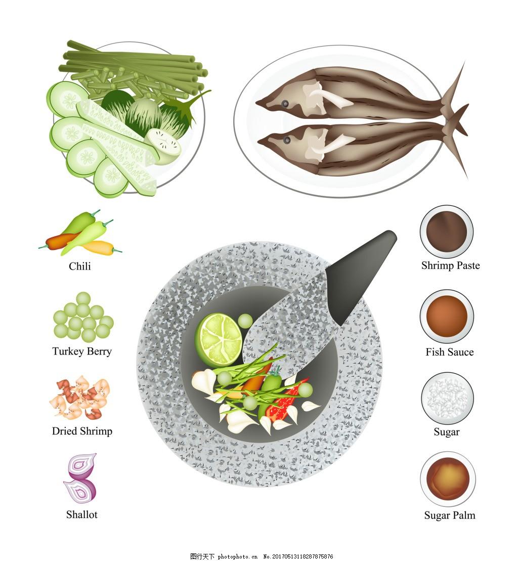 卡通手绘美味食物矢量素材