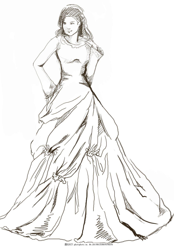 手绘婚纱设计图