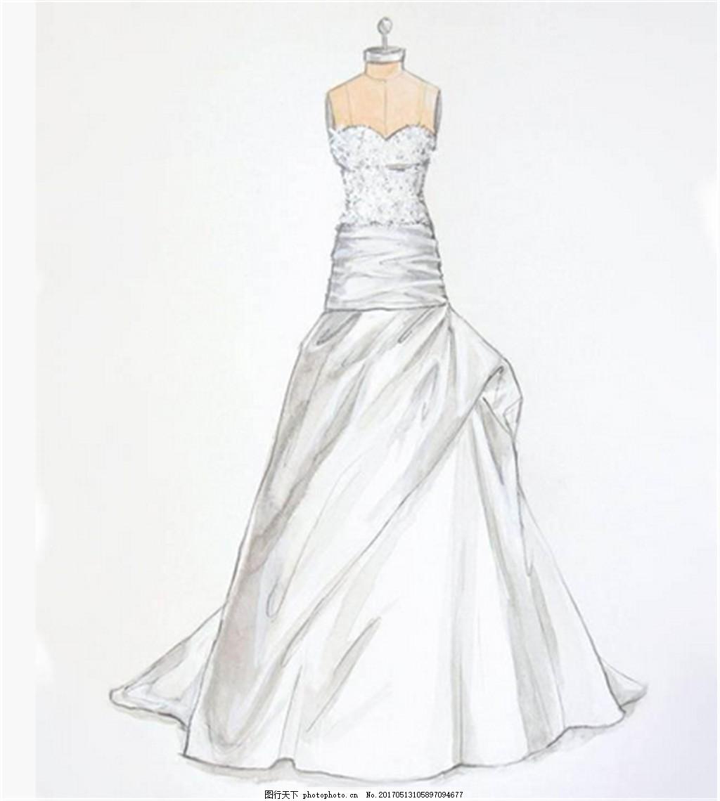 抹胸礼服设计图 时尚女装 职业女装 女装设计效果图 短裙 服装图片