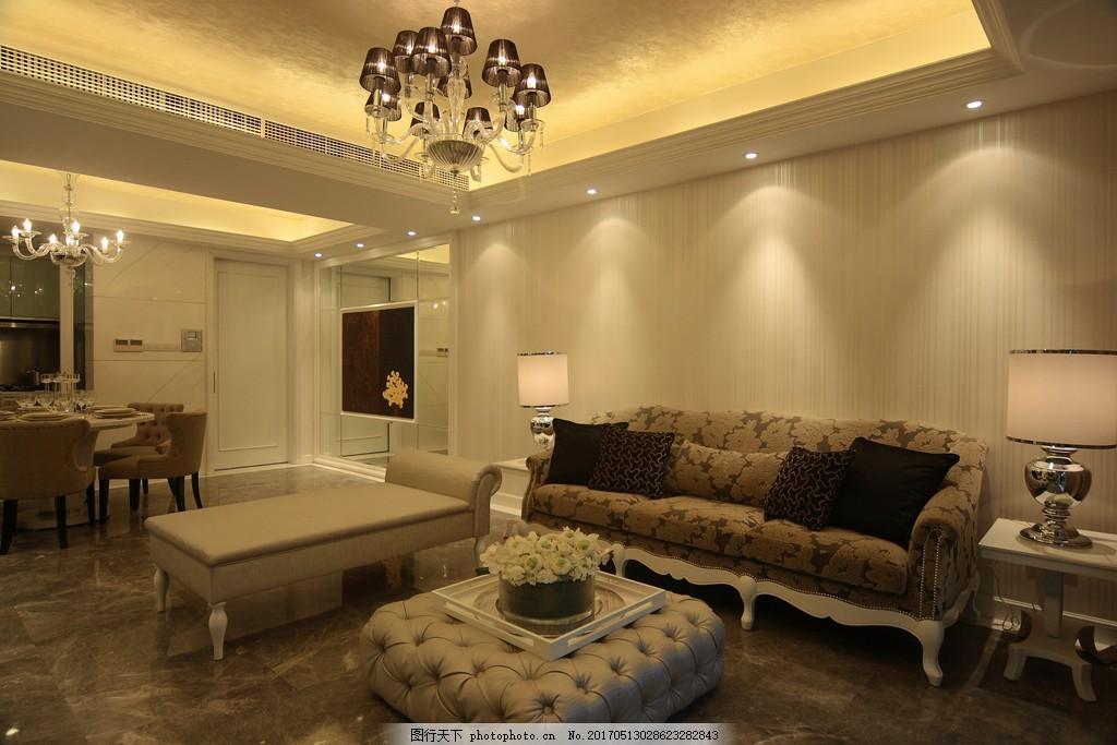简约欧式客厅装修效果图