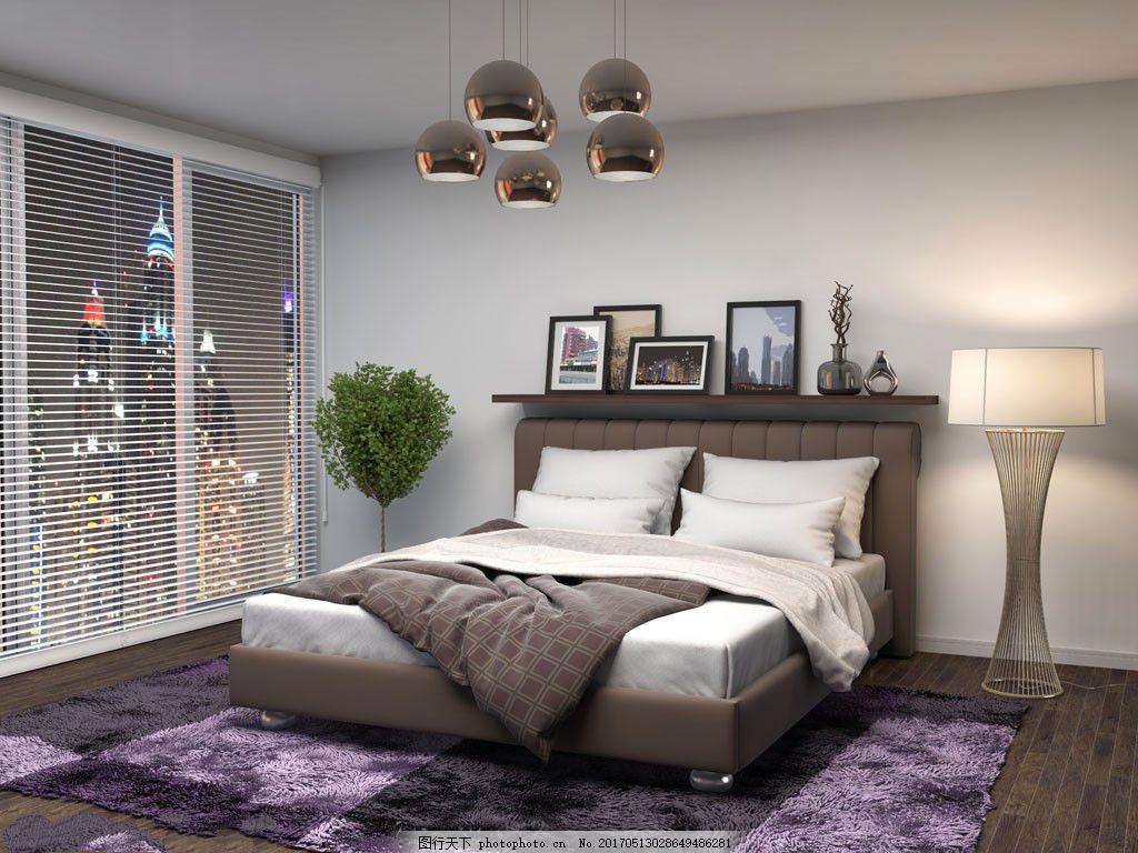 卧室装修设计 室内设计 家居生活 家装效果图 设计素材 室内装修