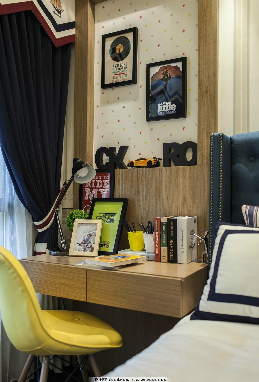 现代卧室书桌效果图 家居 家居生活 室内设计 装修 室内 家具 装修