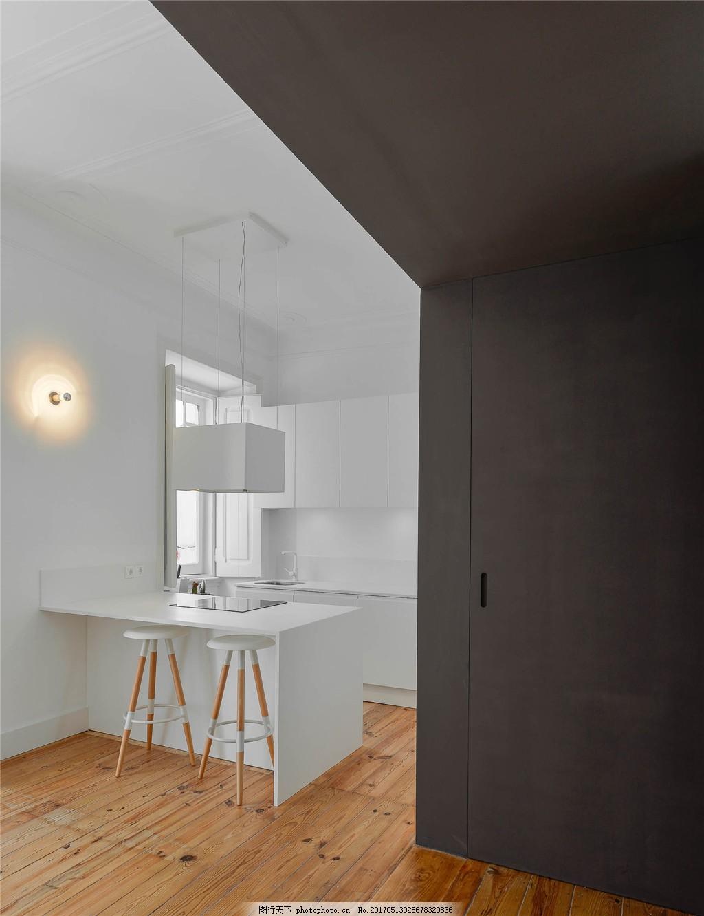 现代港式白色系厨房简装效果图 室内设计 家装效果图 现代装修效果图