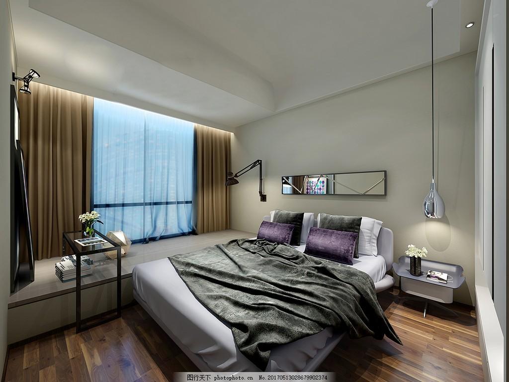 现代简约卧室装修效果图 室内效果图图片下载 时尚 室内装修 家装实景图片