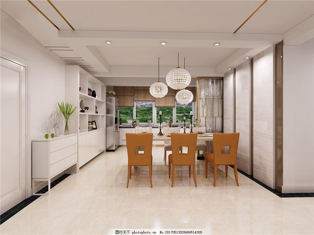 现代餐厅简装效果图 室内设计 家装效果图 现代装修效果图 时尚 奢华