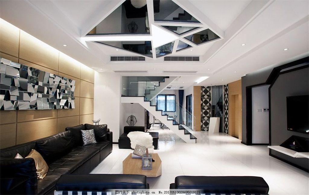 创意客厅吊顶设计图图片