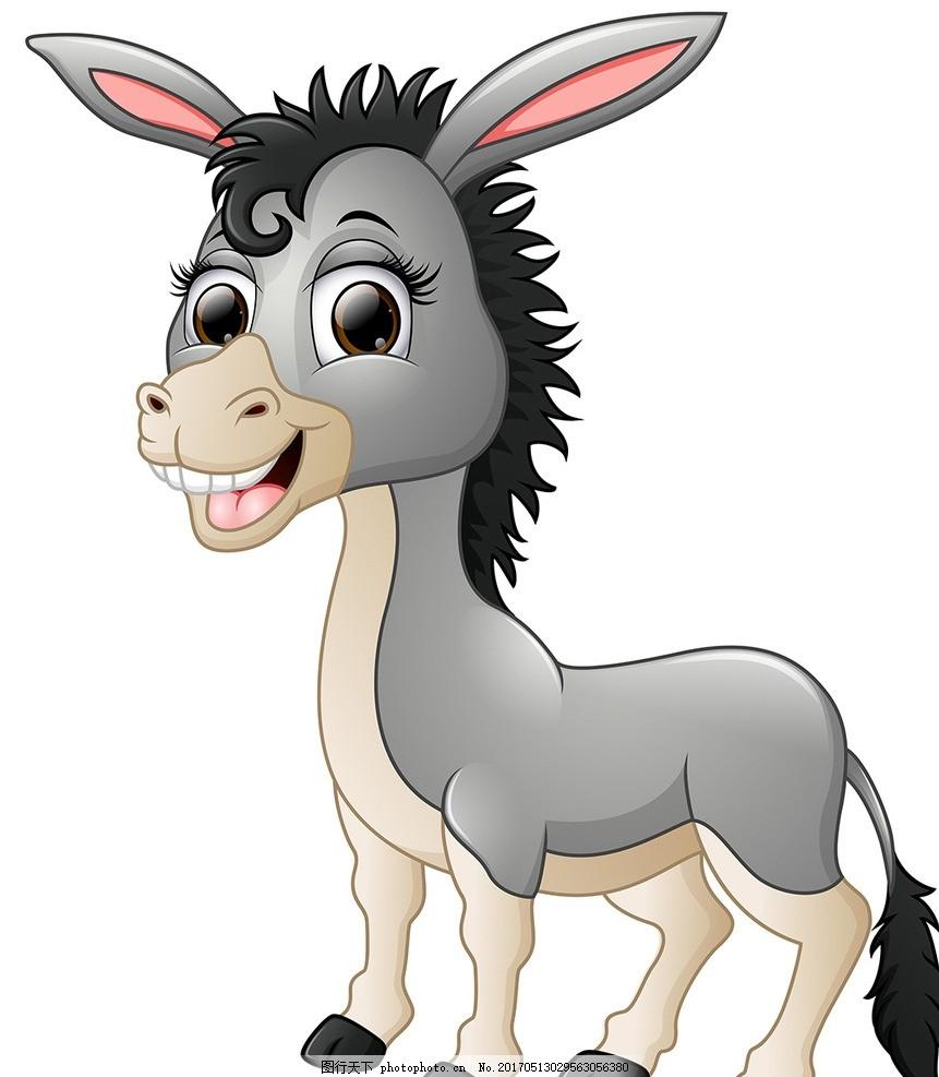 小动物 卡通背景 小毛驴 动漫立体 卡通动物 卡通插画 矢量素材 卡通