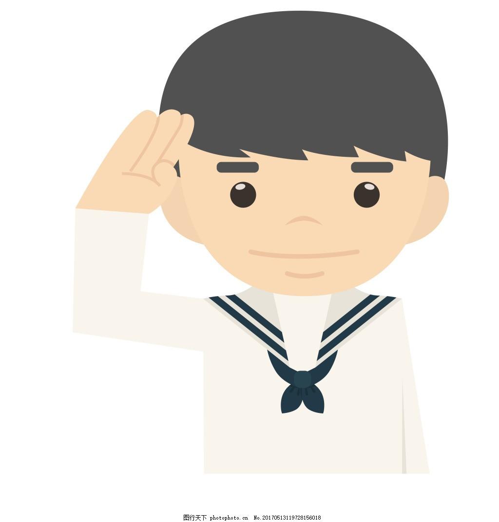 卡通海军军人eps图片