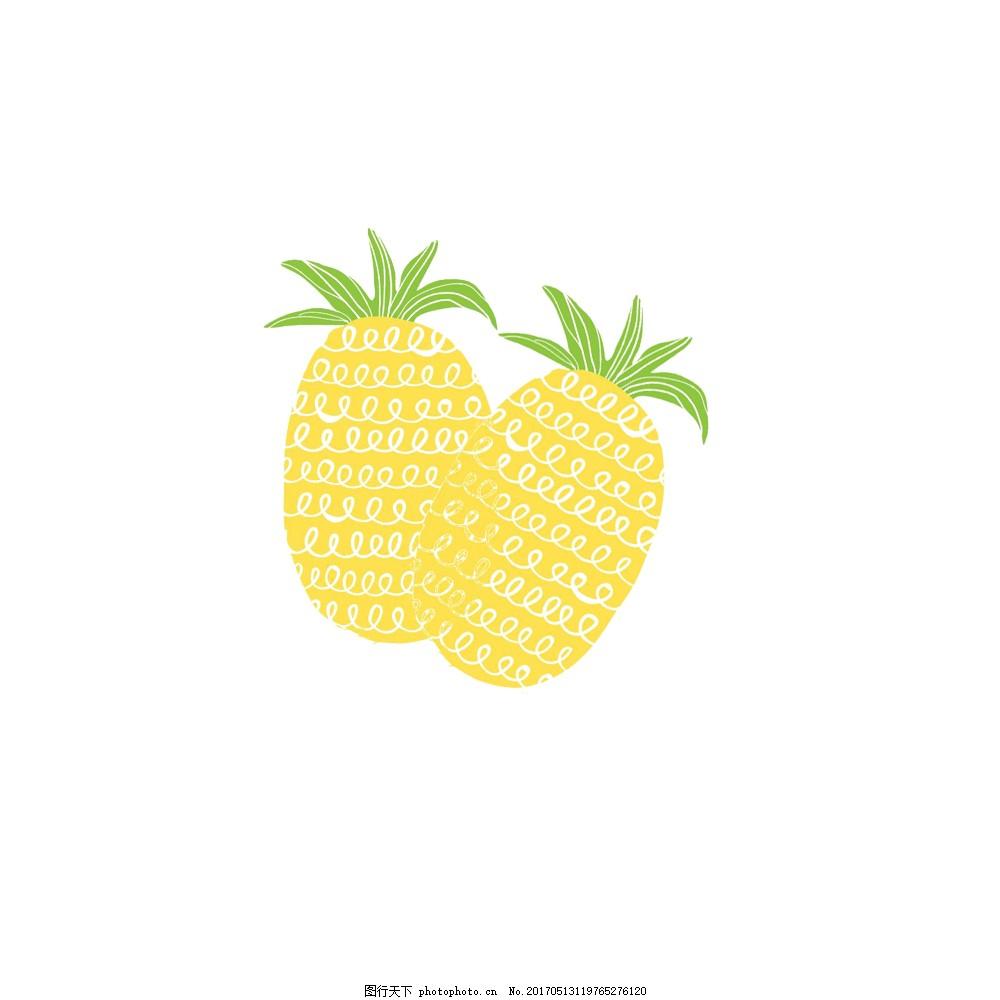 卡通手绘菠萝