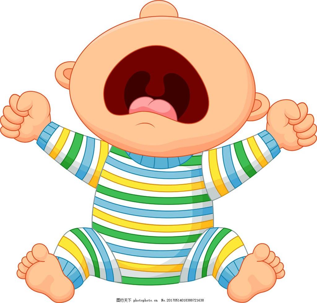 婴幼儿 卡通婴儿 小孩子 宝宝漫画 儿童幼儿 矢量人物 矢量素材