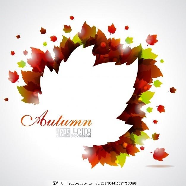 秋色叶 背景 树叶 自然 森林 秋天 剪影 树木 颜色 树木轮廓