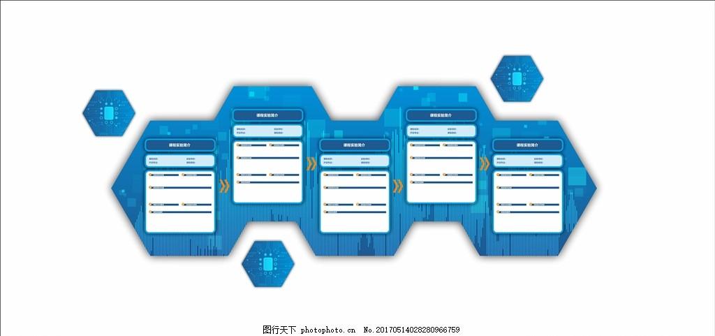科技菱形墙面展板 科技 电路 展板 电波 波形 形象墙 蓝色 菱形 矢量