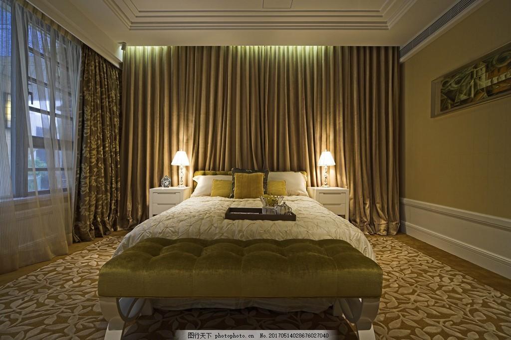 豪华别墅卧室简装效果图 室内设计 家装效果图 现代装修效果图 装修