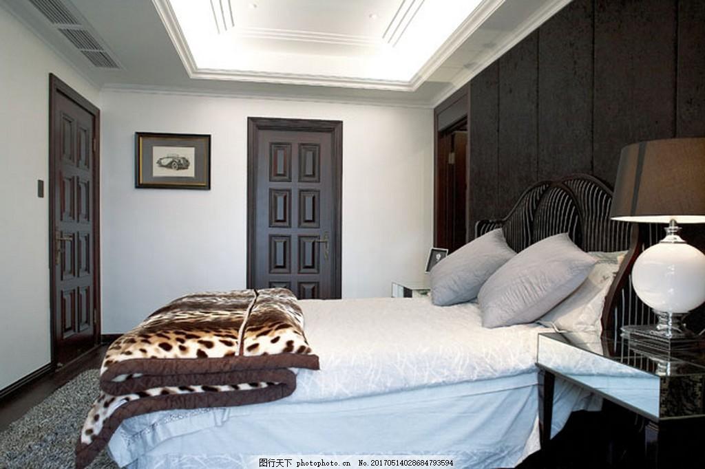 简约卧室大床设计图 家居 家居生活 室内设计 装修 家具 装修设计
