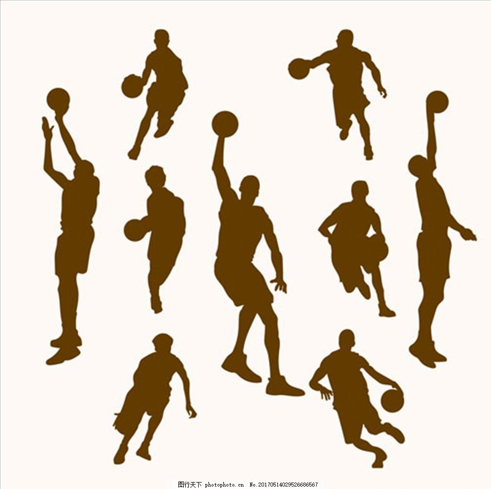 篮球比赛培训运动轮廓剪影 篮球海报 篮球赛海报 校园篮球比赛 篮球