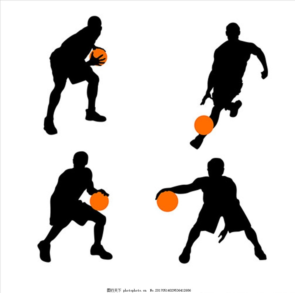 篮球比赛运动轮廓剪影,篮球海报 篮球赛海报 校图片