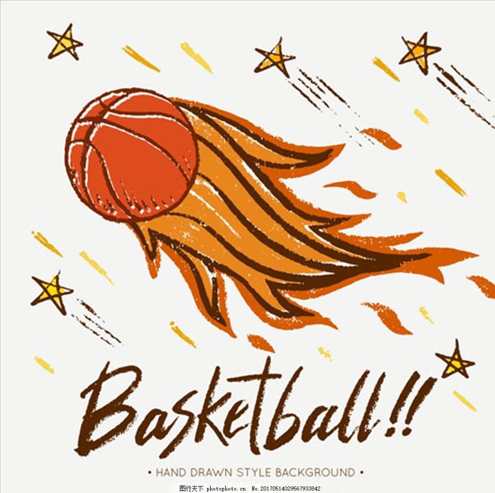 火焰篮球比赛培训俱乐部插图 篮球海报 篮球赛海报 校园篮球比赛